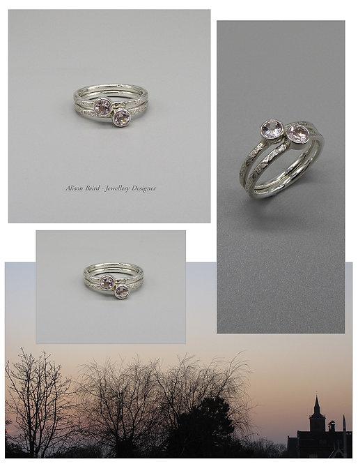 Morganite Sunset ring