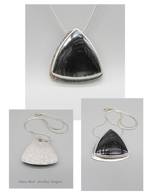 Frozen Psilomelane pendant