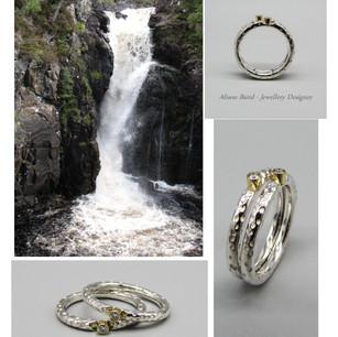 Kirkaig Falls Diamond ring