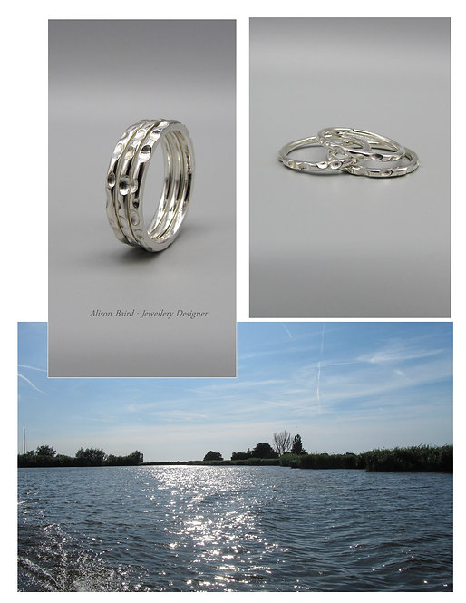 Ripples & Reflections stacking ring