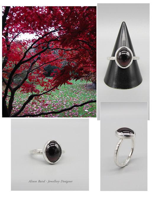 Autumn Blaze Garnet ring