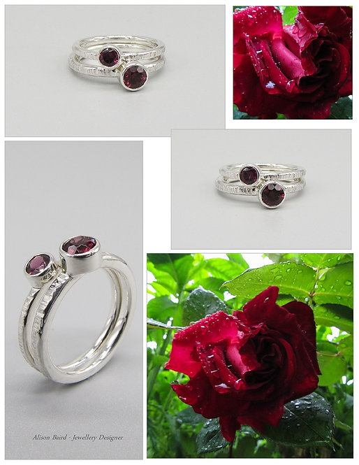 Rhodolite Rose Garnet ring