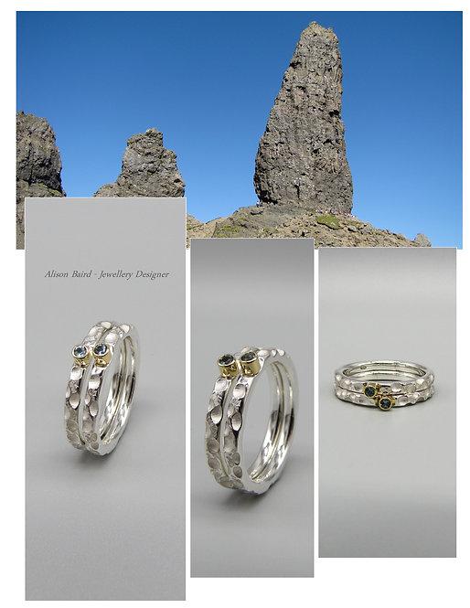 Isle of Skye Aquamarine stacking ring