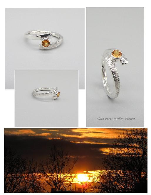 Spessartite Sunset ring