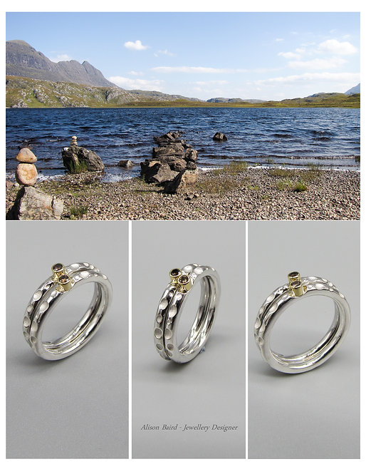 Fionn Loch Diamond stacking ring