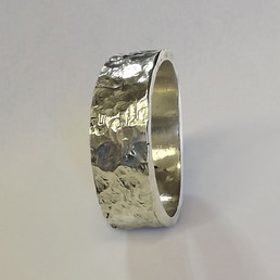 Reticulated Silver/Gold Wedding Ring