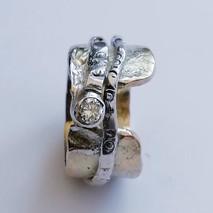 Diamond set white gold commission ring
