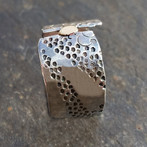 Handmade Silver and Gold Stamped Ring
