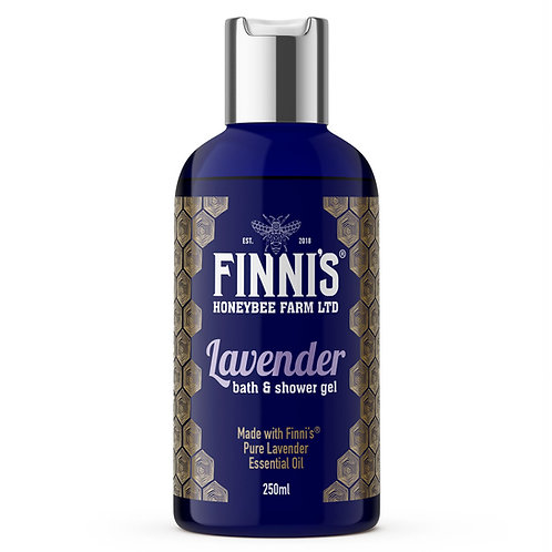 Luxury lavender bath and shower gel made with our pure essential oil