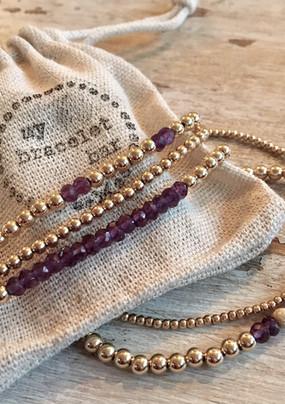 Purple & Gold Baller bracelets