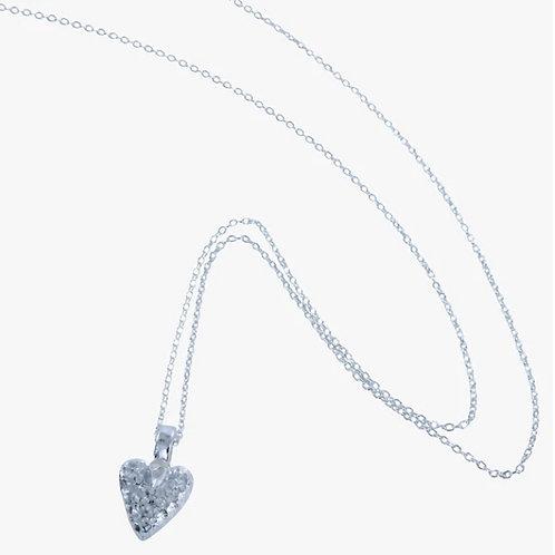 Mini Chocolate Heart Pendant Necklace (LV47)