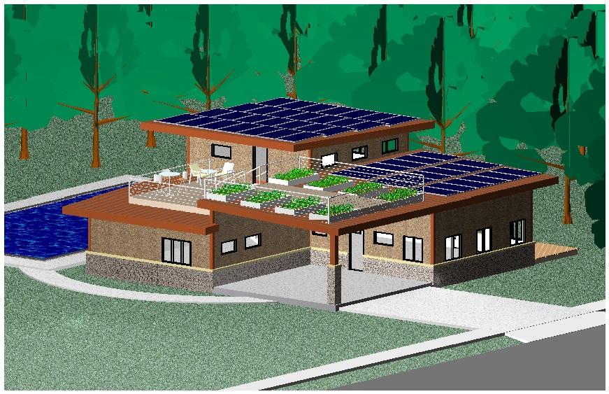 solar with rooftop garden