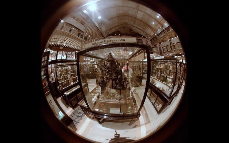 Still from 360 film Granny's Bones at the Pitt Rivers Museum, Oxford