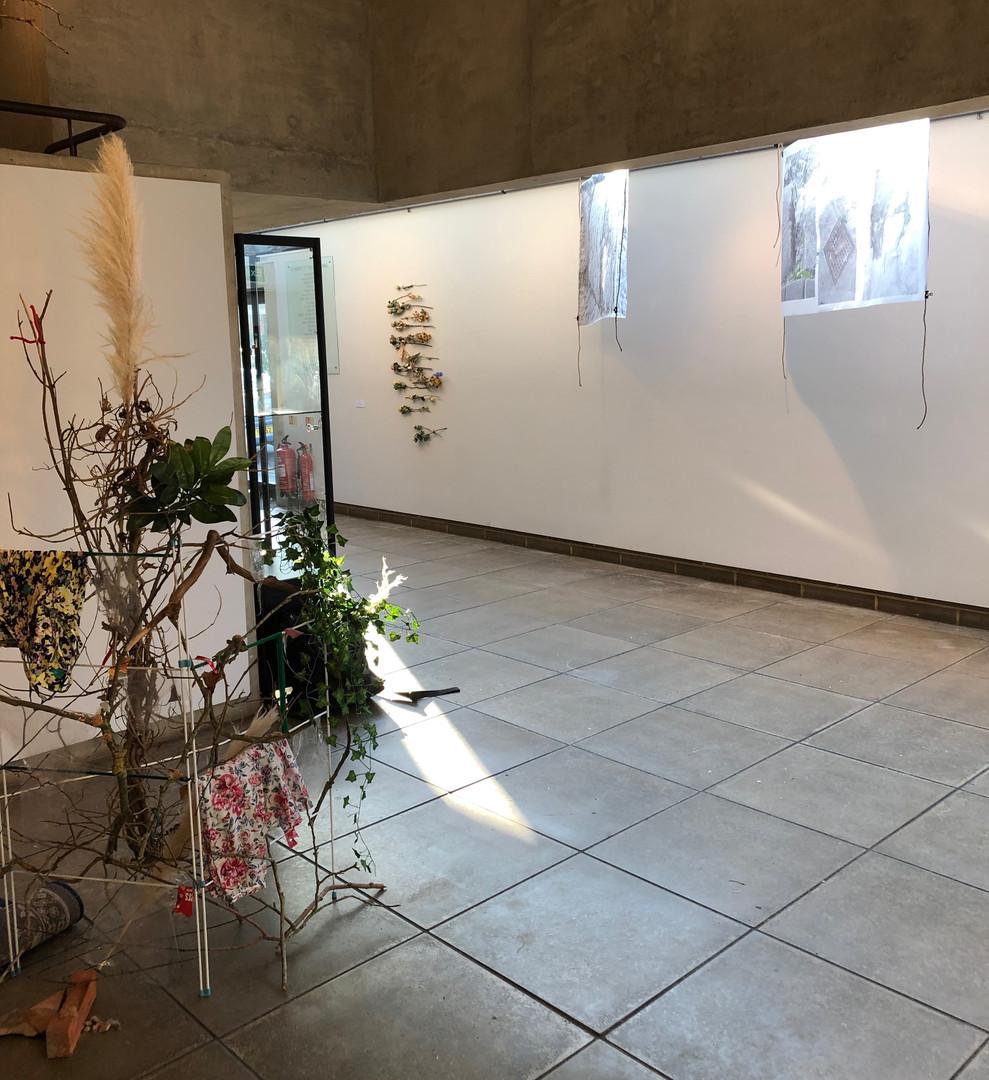 View onto exhibition