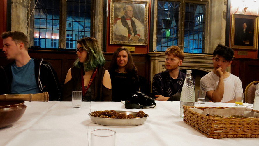 In Workshop 3 Juliana Muganza, a representative of the Rwandian government, talked to us about rebuilding, rewilding, and reconciliation at a confluence of Art, Science & Politics. Workshop 3 was hosted in the iconic old dining hall of St. Edmund's Hall college