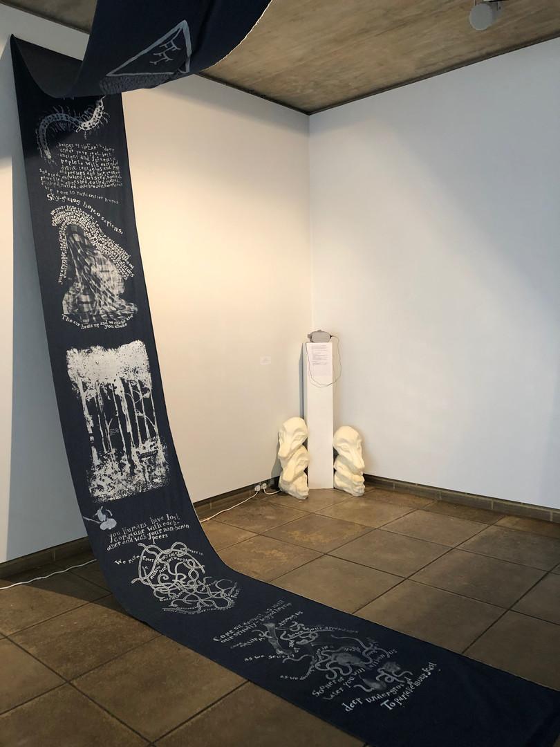 Hanging Scroll by Neeli Malik (advised by Tristram Walsh), VR film by Anya Gleizer (advised by Kiril Maltsev)