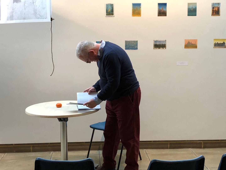Pr. Peter Davidson presenting his talk on John Ruskin, Ecology and Art