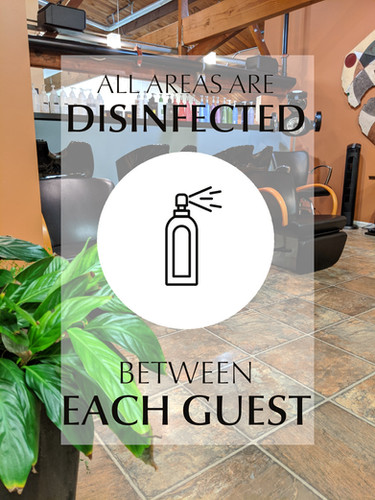 All areas disinfected between each guest