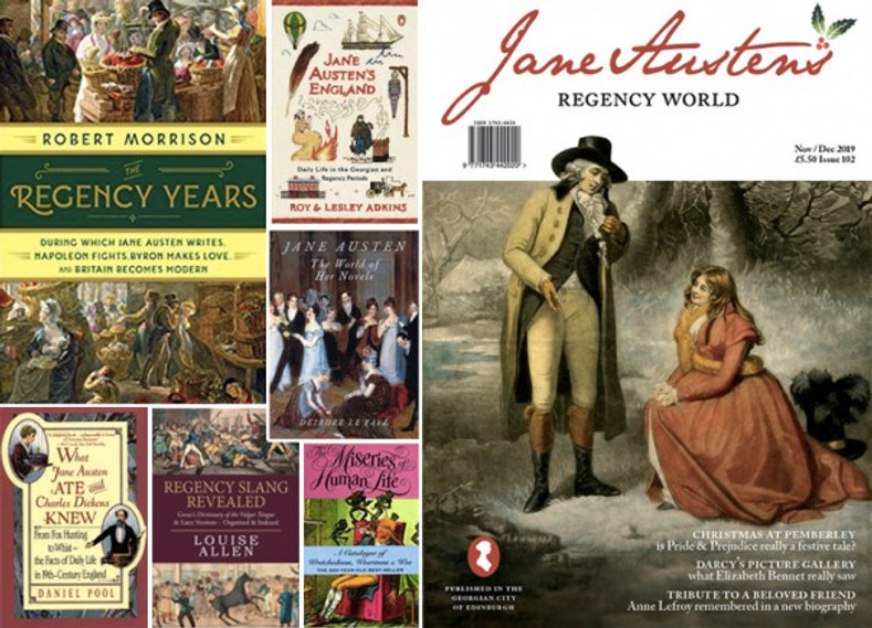 Composite image of publications on Regency life