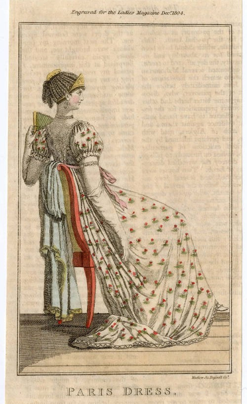 fashion plate, 1804,  courtesy of the Metropolitan Museum of Art.