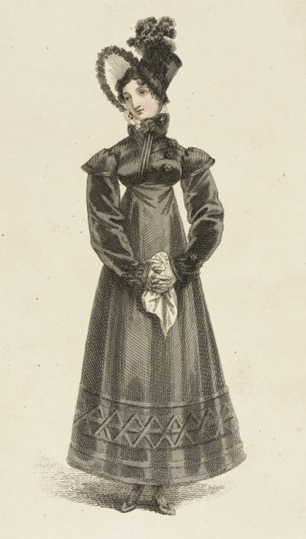 Mourning Fashion plate by Rudolph Ackerman 1817 (Los Angeles County Museum of Art)