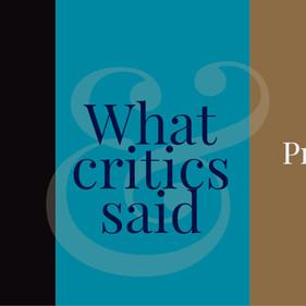 'Pride and Prejudice': What critics said