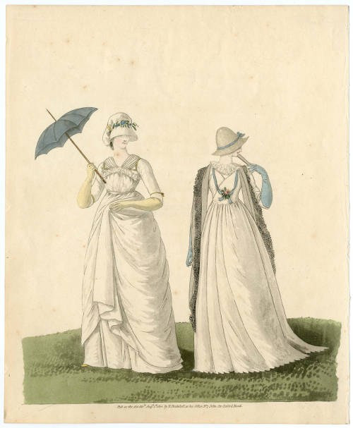 Fashion plate, 1800, courtesy of the metropolitan museum of art