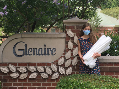 Mask Brigade supports Glenaire Center in Cary
