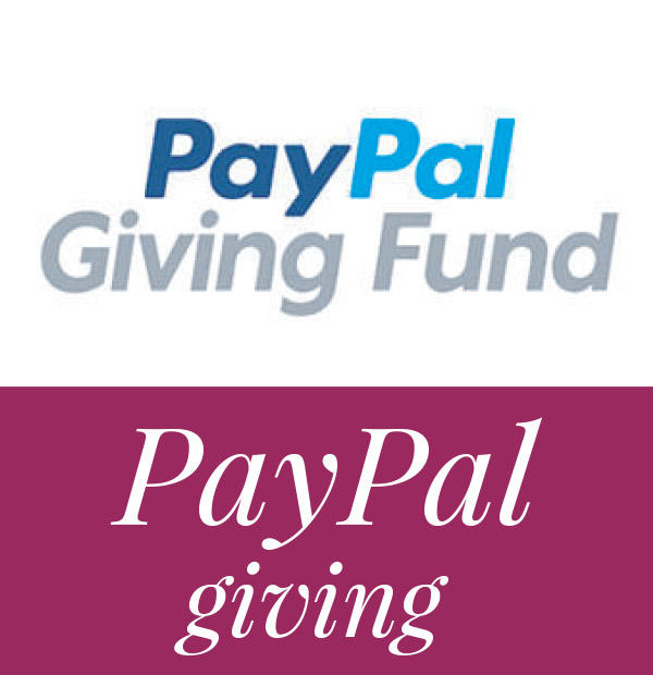 Donate with PayPal Giving Fund.