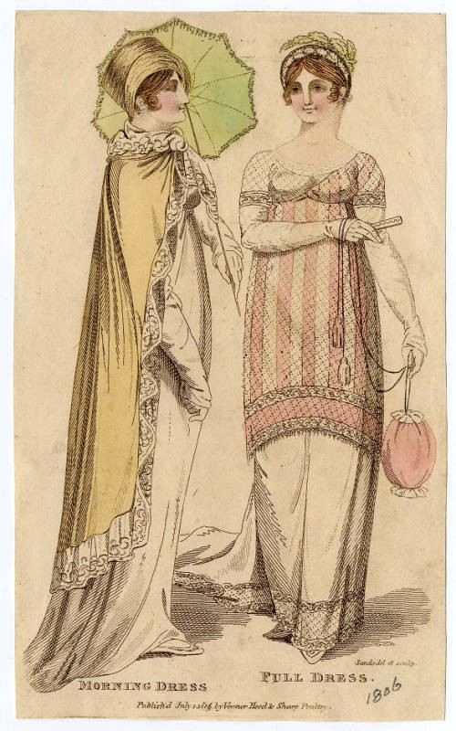 Fashion plate, 1806,  courtesy of the Metropolitan Museum of Art.