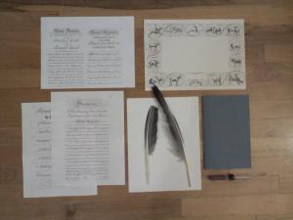 Penmanship supplies (Courtesy of Benjamin Bartgis)
