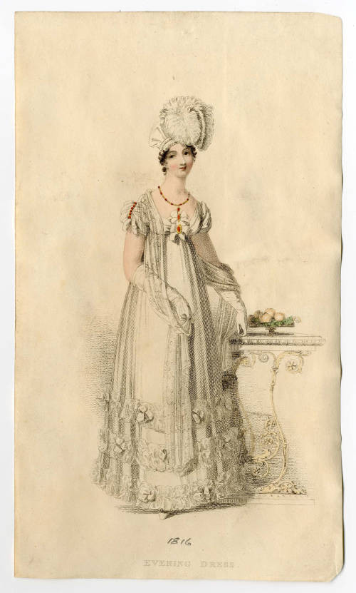Fashion plate 1816, courtesy of the Metropolitan Museum of Art.