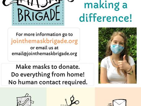 High Schoolers making masks!