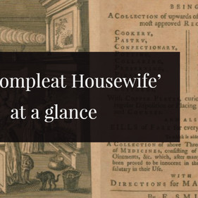 Ye olde cure for the common cold? Remedies from 'The Compleat Housewife'