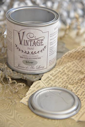 Vintage Sølv Metal, 200ml