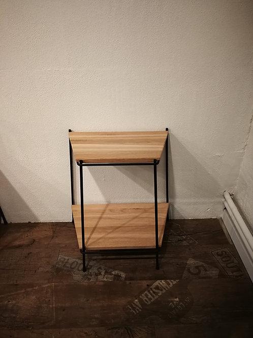 Cube-U reol, lille, 2 hylder, ubehandlet