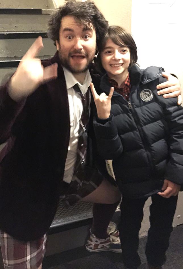 with Alex Brightman - School of Rock.JPG