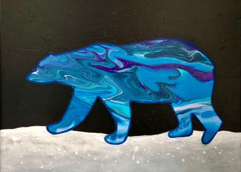 Polar Bear & Northern Lights