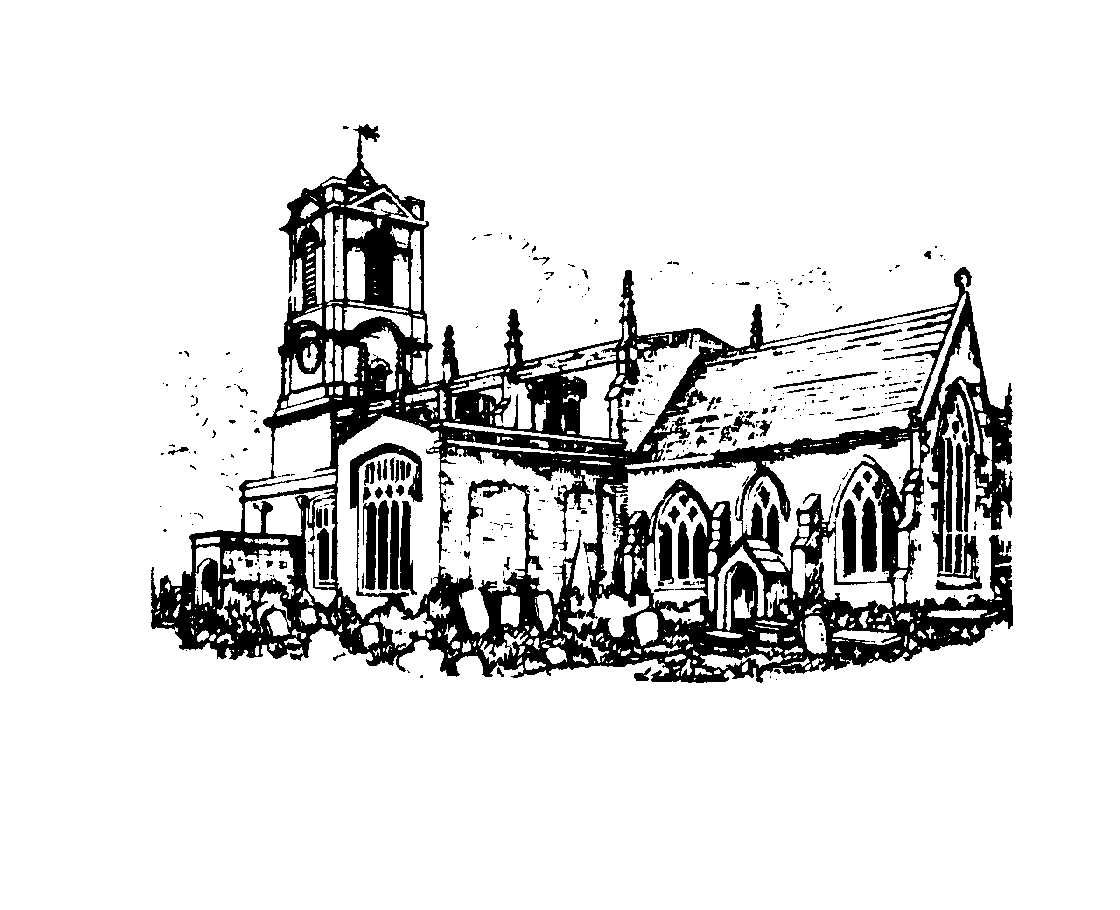 Pencil drawing of St Mary's Church