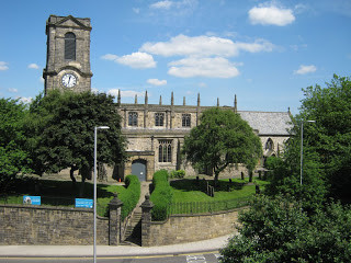 A more modern picture of St Mary's Church, Gateshead