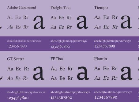Top 10 Popular Serif Fonts