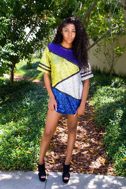 Jazmine- Sequin Shirt Dress