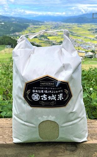 令和3年度【白米5kg】古城米・南魚沼産コシヒカリ