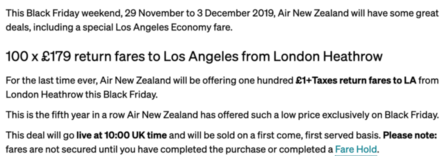 BLACK FRIDAY: London - Los Angeles for only £179 RTN (direct)