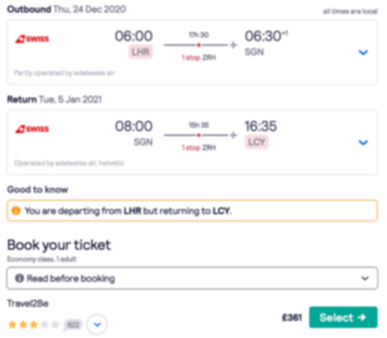 Fly to Vietnam from London for only £361 RTN