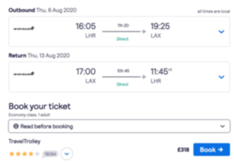Los Angeles in August for just £318 return
