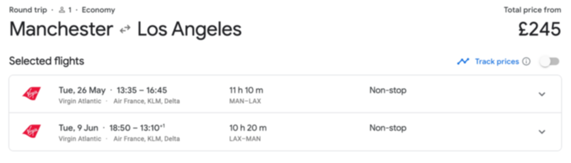 Los Angeles from Manchester, just £245 RTN  (Direct)