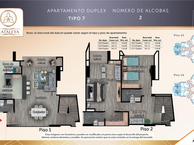 Apto. Tipo 7 Duplex