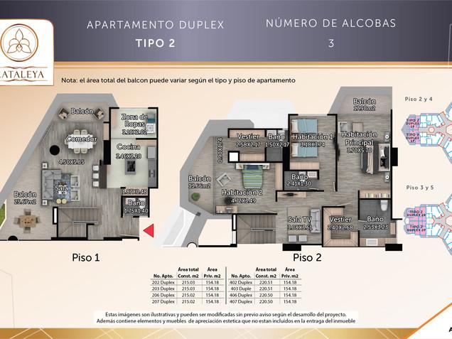 Apto. Tipo 2 Duplex