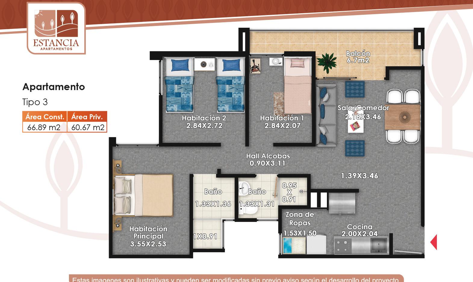 Apartamento Tipo 3